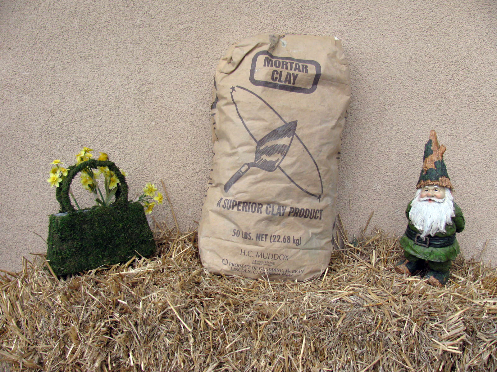 Fire Clay Mortar Mix : Sacked items and landscape fabric