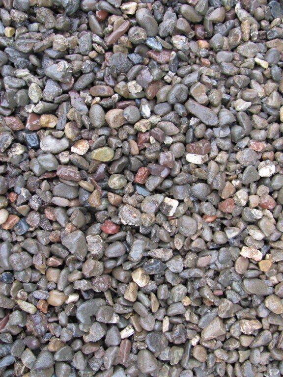Red Pea Gravel : Decorative rocks construction
